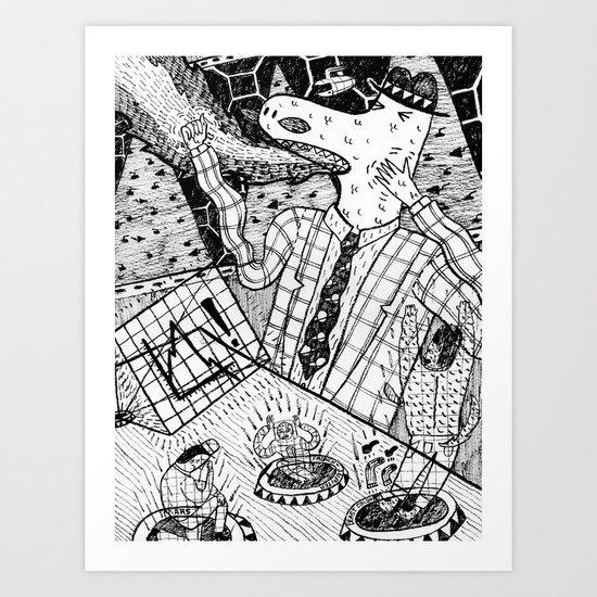 Lizard Boss Art Print