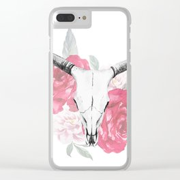 Animal Skull 08 Clear iPhone Case