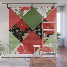 Patchwork, Christmas 1 Wall Mural