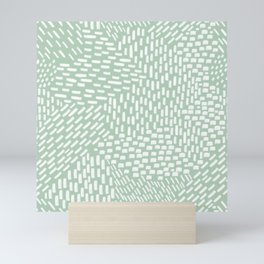 Abstract Brush Strokes, Sage Green Mini Art Print