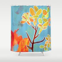 western Shower Curtains featuring Western Wallflower by Eliza Lynn Tobin