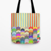one direction Tote Bags featuring One Direction by TT Smith
