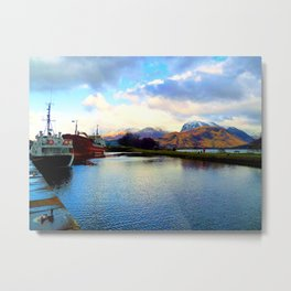 Four Seasons in One Day over Ben Nevis Metal Print