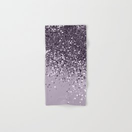 Sparkling Lavender Lady Glitter #2 #shiny #decor #art #society6 Hand & Bath Towel