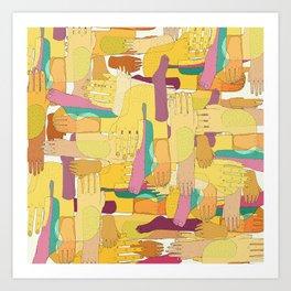 Yellow Hands Art Print