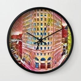 Turk's Head Building Portrait - Downtown Providence, Rhode Island by Jeanpaul Ferro Wall Clock