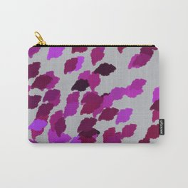 Pink Camouflage Leaves with Border Carry-All Pouch