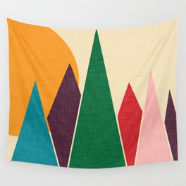 solar mountain #homedecor #midcentury Wall Tapestry