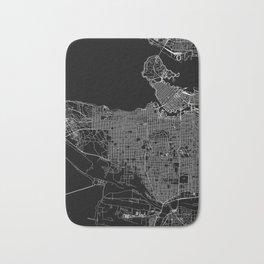 Vancouver Black Map Bath Mat