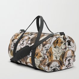 Social English Bulldog Duffle Bag