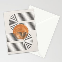 Abstract orange circle hand drawn illustration . Lovely abstract art. Elegent home decor. Stationery Cards