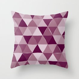 Purple Triangles Throw Pillow