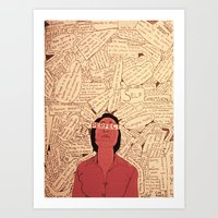 Self Expression (Word Collage) Art Print