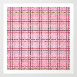 Bubblegum and Confetti Pattern Art Print