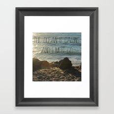 The Ocean is Calling Framed Art Print