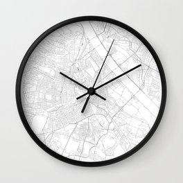 Vienna, Austria Minimalist Map Wall Clock