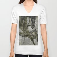 bitch V-neck T-shirts featuring war bitch by Maria Enache