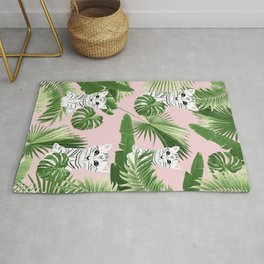 Baby Cat in the Jungle #1 (Kids Collection) #tropical #animal #decor #art #society6 Rug