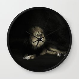 Smiling Lion Wall Clock