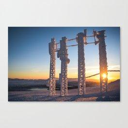 The winter freeze Canvas Print