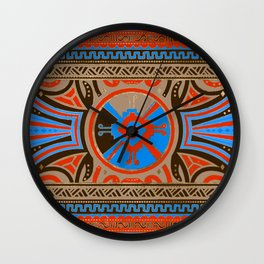 Colorful Hunab Ku Mayan symbol #4 Wall Clock