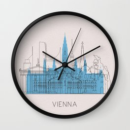 Vienna Landmarks Poster Wall Clock