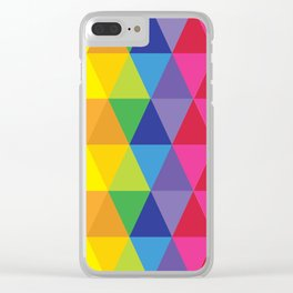 Rainbow Cosmic Universe Clear iPhone Case