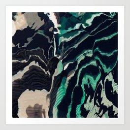 Underwater Stripes Art Print