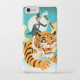 Abe Lincoln Flies a Tiger iPhone Case