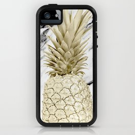 Rose Gold Pineapple Surprise on Simply Marble iPhone Case