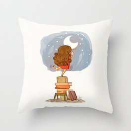 Nothing is out of reach Throw Pillow