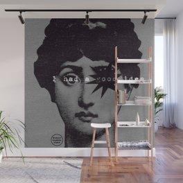 I had a good idea...gray Wall Mural