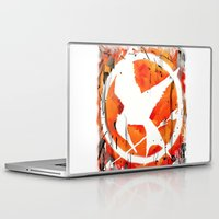 mockingjay Laptop & iPad Skins featuring The Mockingjay by Trinity Bennett