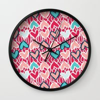 valentine Wall Clocks featuring Valentine by Art Tree Designs