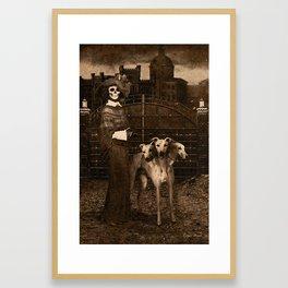 Dark Victorian Portraits: The Dog Walker Framed Art Print