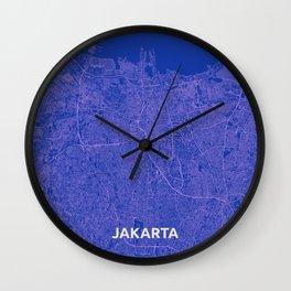 Jakarta, Indonesia street map Wall Clock