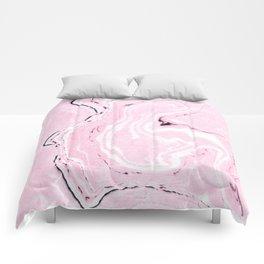 Light pink marble Comforters