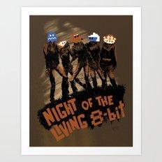 Night of the Living 8-Bit Art Print