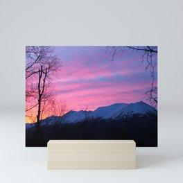 Bright Winter Sunrise Mini Art Print