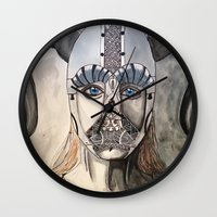 viking Wall Clocks featuring Viking by Hannah Brownfield Camacho