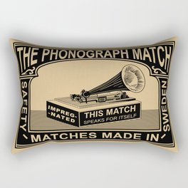 The Vintage Phonograph Safety Matches Rectangular Pillow