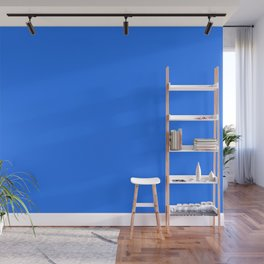 From The Crayon Box - Blue - Bright Blue Solid Color Wall Mural