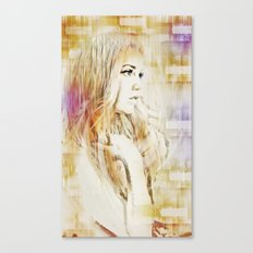 Facet Portrait Canvas Print