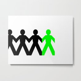 Group Man Green Metal Print