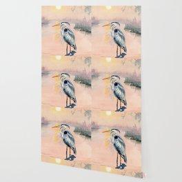 Great Blue Heron at Sunset Wallpaper