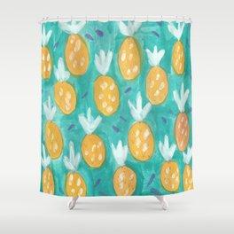Fresh Pineapples Shower Curtain