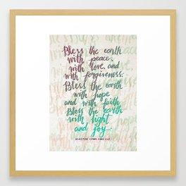 Bless the earth Framed Art Print