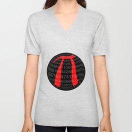 Pi Isolated Sphere Unisex V-Neck