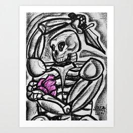 Heart & Dagger Art Print