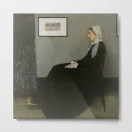 Whistlers Mother Oil Painting by James McNeill Whistler Metal Print